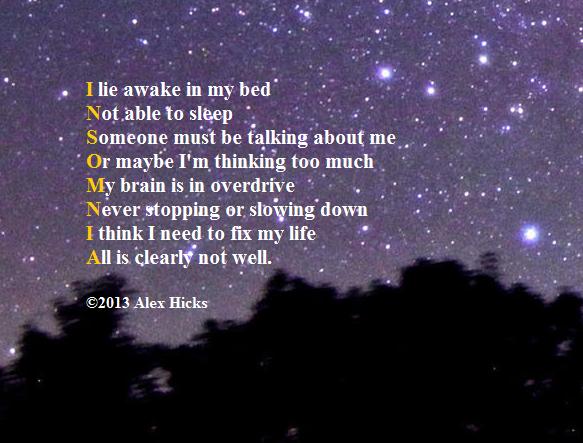 Insomnia - By Alex Hicks
