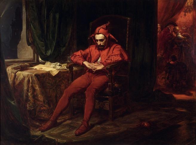 MP 433; Matejko, Jan (1838-1893) (malarz); Stańczyk; 1862; olej; płótno; 88 x 120 [106 x 135 x 9]